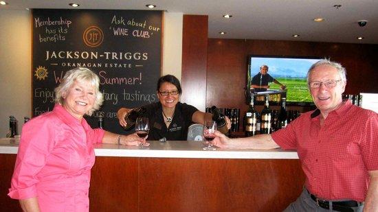 Jackson Triggs Okanagan Estate: Enjoying the delicious wines!
