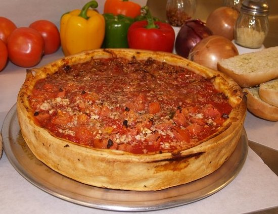 Tortugas Pizza: Tortugas Chicago Stuffed Pizza