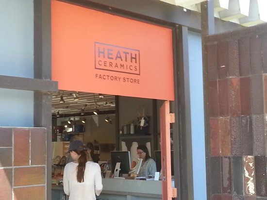 Heath Ceramics: Factory Store and tour check-in entrance