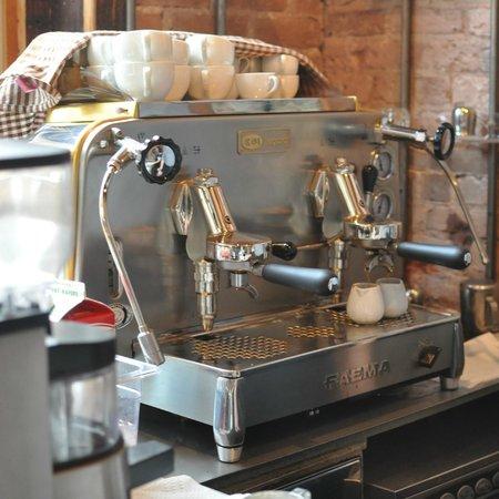 I Am Coffee's beautiful espresso machine