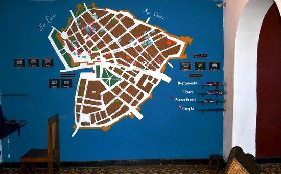 El Viajero Cartagena Hostel: City Map