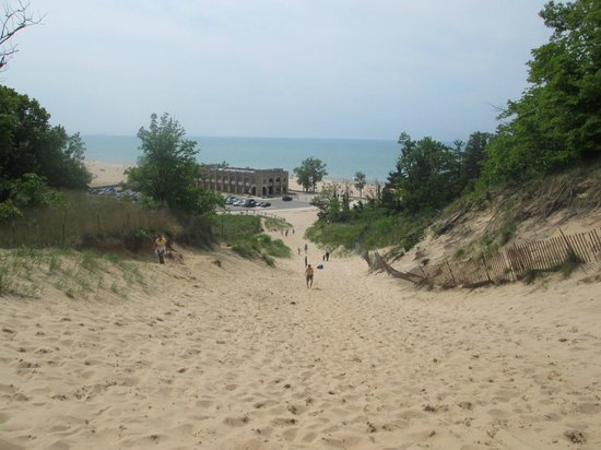 Indiana Dunes State Park: View from large dune