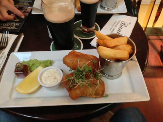 The Bank on College Green: Versión cool del fish and chips