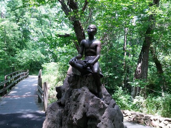 George Washington Carver National Monument: The statue on the woods trail