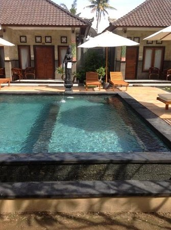 Pondok Arsa Santhi Bungalow Lembongan : the new pool area - very nice!