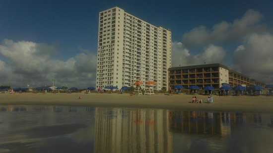 Myrtle Beach Resort View Of Renaissance Towers And Building B From Ocean