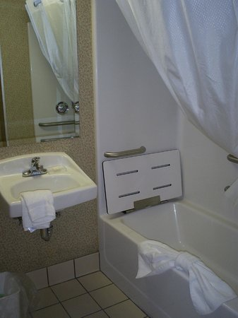 Country Inn & Suites By Carlson, Cortland: fully equipped handicap bathroom