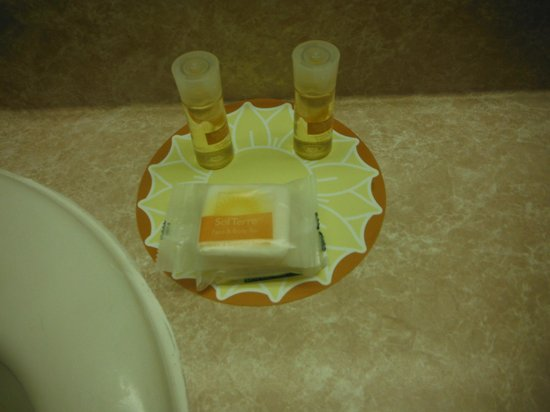 Days Inn by Wyndham Port Angeles: The daily complimentary shampoo, conditioner and soap.