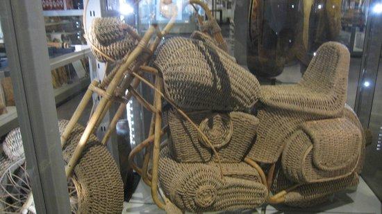 Museo de Antropología: bike made of rattan