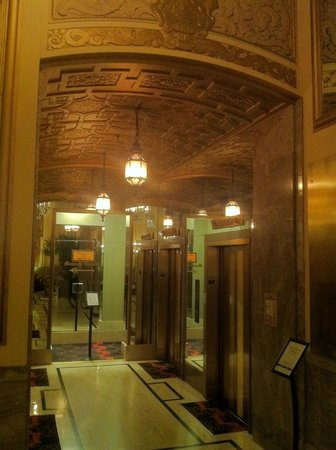 Kimpton Sir Francis Drake Hotel Elevator Lobby
