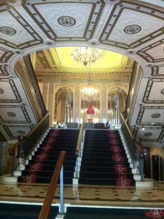 Kimpton Sir Francis Drake Hotel: What you see when you walk through the front door.