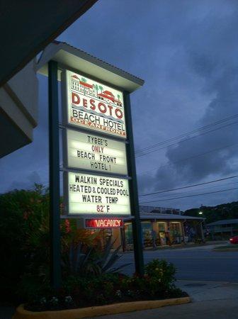 Desoto Beach Hotel: Pic we took of hotel