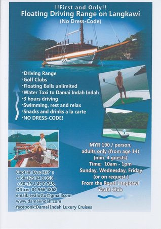 Damai Indah A Day in Paradise: Damai Indah presents the First and Only Floating Driving Range on Langkawi !