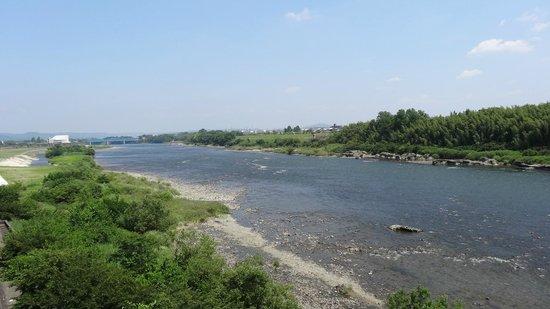 Nakasendootajuku : 木曽川上流方向