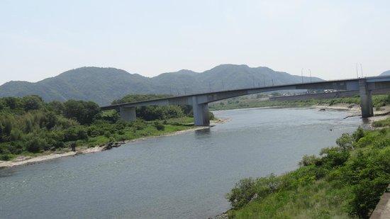 Nakasendootajuku : 木曽川下流方向
