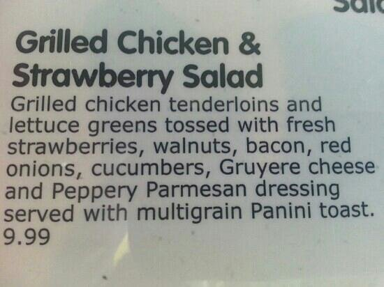 Norske Nook: Strawberry salad description.