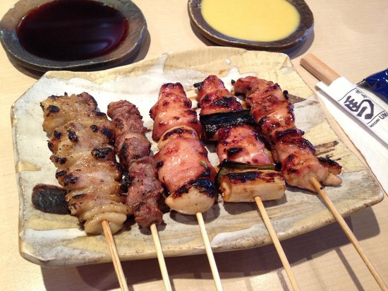 Yakitori Uma: Yakitori like how's it's served in Japan. Simplistic but good.