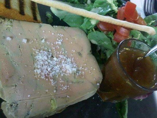 L'Up Side Down Cafe foie gras
