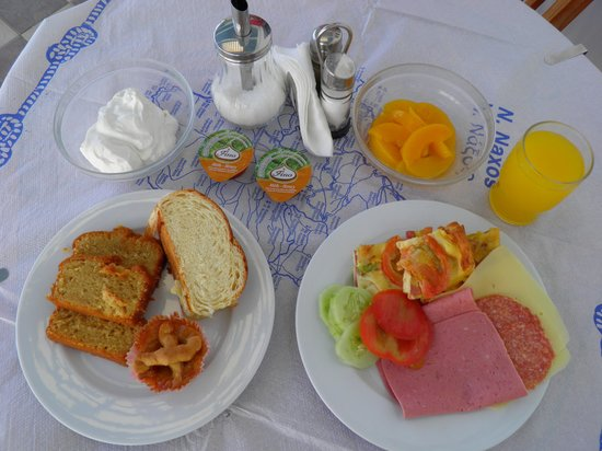 Hotel Katerina: A typical breakfast for me
