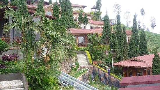 """Bromo Cottages Hotel: vue sur les """"cottages"""""""