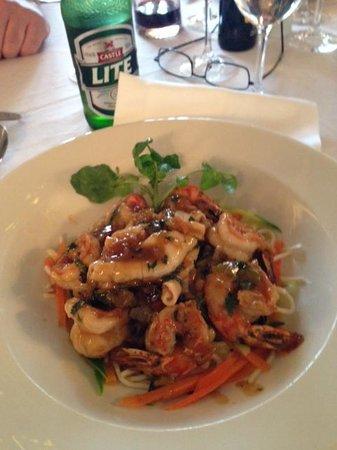 Constantia Uitsig: Seafood pasta