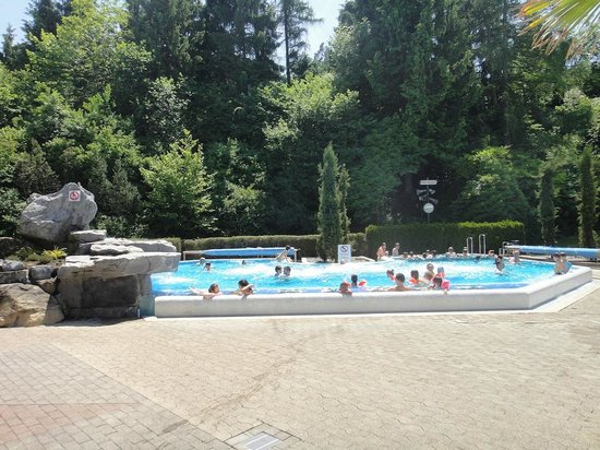 Alpamare: Warm Outdoor Pool - most pools can be entered indoors - useful for Winter