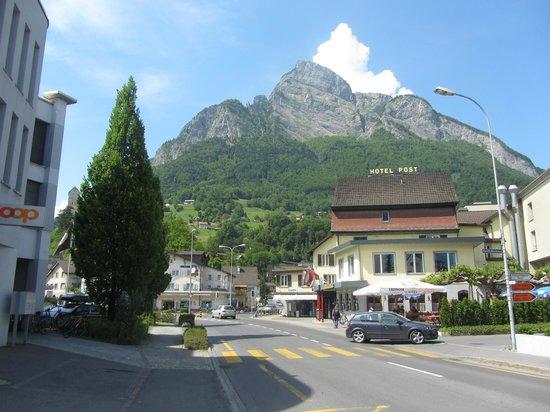 Hotel Post: on direct train line from Zurich and you get the bus to Liechtenstein
