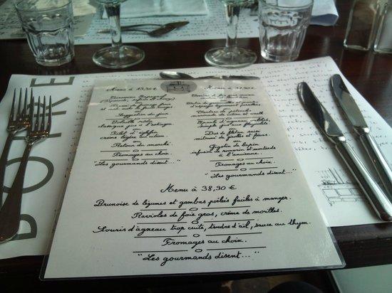 Tout le monde à table : le menu