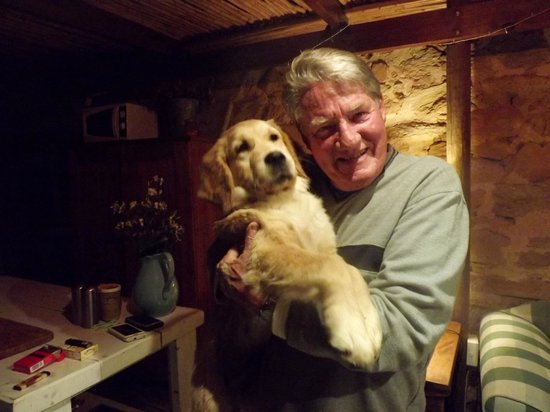 Oakhurst Farm Cottages : Richard with your new baby