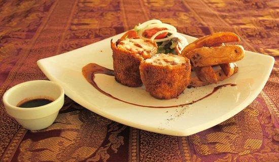 Manohra Cozy Restaurant : Cordon Bleu staffed with Parma Ham and Mozzarella cheese