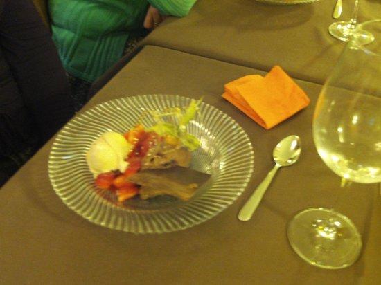 Pension Endehof: Exemple de dessert