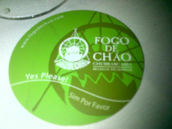 Fogo de Chao Brazilian Steakhouse : go!