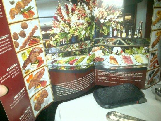 Fogo de Chao Brazilian Steakhouse : menù