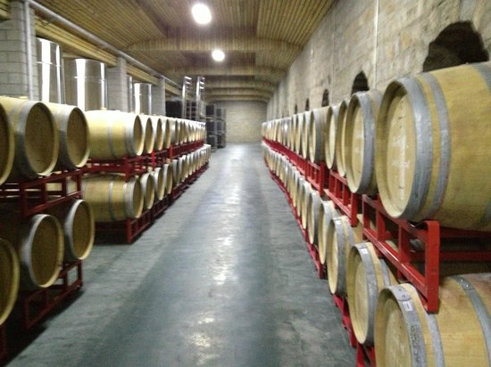 Amethyst Manor Winery: The underground barrel cellar