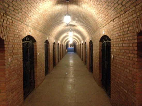 Amethyst Manor Winery: The underground bottle cellar