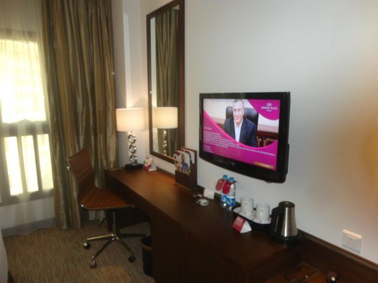 Crowne Plaza Madinah : Our Room LCD