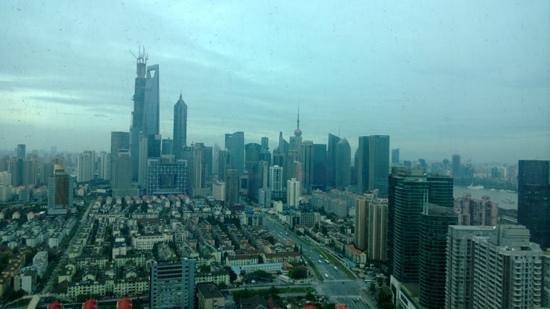 Novotel Atlantis Shanghai: Blick aus meinem Hotelzimmer im 37 Stockwerk