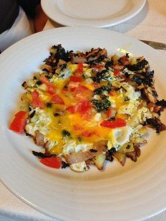 Osteria La Gensola : uova con scarola e cavolo nero....
