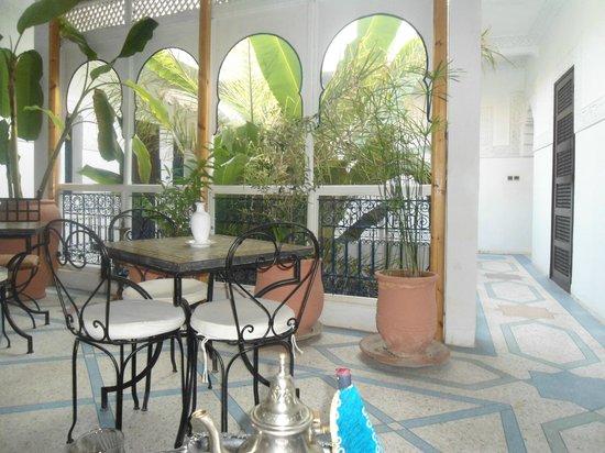 Riad Abaca Badra: terrasse de notre chambre
