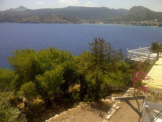 Kavos Bay Seafront Hotel: the view from our balcony 2