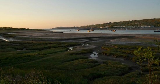 Webley Waterfront Inn and Hotel : Setting sun on the Teifi estuary