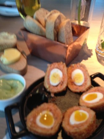 Angelica: scrummy smoked salmon and quails eggs