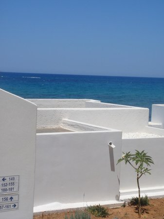 Knossos Beach Bungalows & Suite: Sea-view balcony view