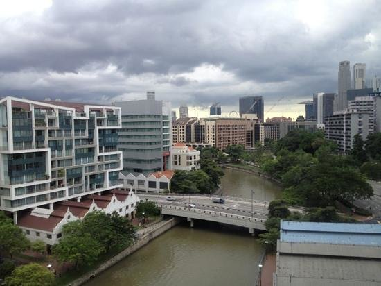 Four Points by Sheraton: river view on a rainy day