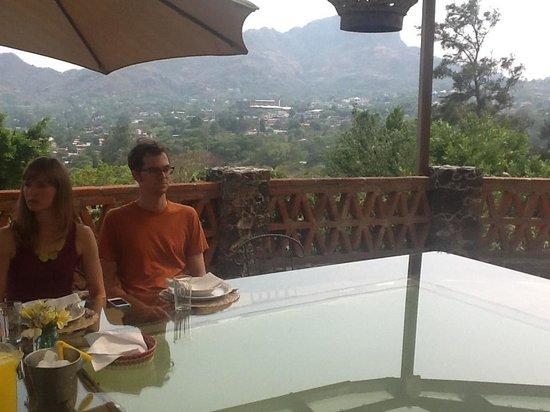 La Villa Bonita Culinary Vacation: The terrace dining area and view
