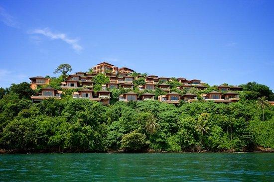 Sri Panwa Phuket Luxury Pool Villa Hotel: Hotel view from the hotel pier