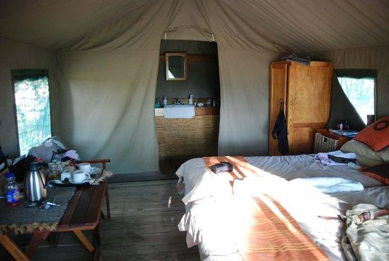 Mankwe Bush Lodge: Mankwe inside our tent