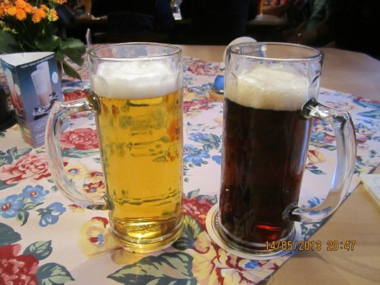 Zauberstub'n Oberammergau: two kinf od the same local beer