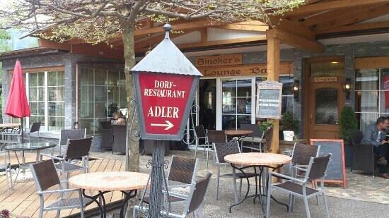 Restaurant Adler : Adler - terrace