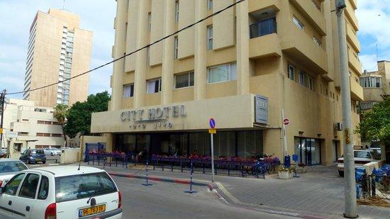 Hotel Prima City, Tel Aviv: City Hotel von der Straße